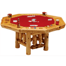 Cedar Poker Table - 8 Sided
