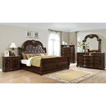 VIENNA 4PC QUEEN Bedroom Set (BED, DRESSER, MORROW & NIGHTSTANDT)