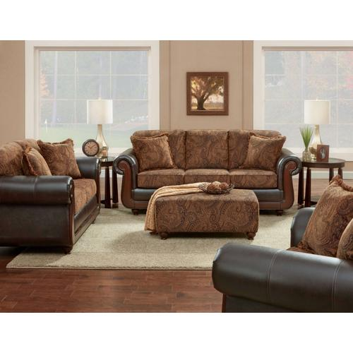 8703-KISC  Kiser Cappuccino - Sofa, Loveseat, Chair and Ottoman