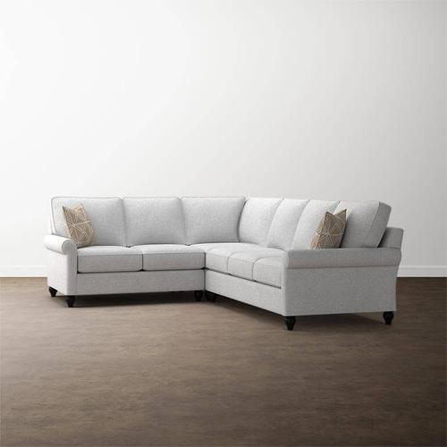 Bassett Furniture - Premier Collection - Custom Upholstery Deep L-Shaped Sectional