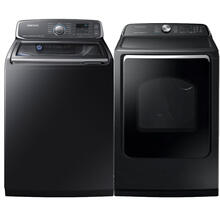 See Details - SAMSUNG 5.2 cu. ft. Activewash Top Load Washer & 7.4 cu. ft. Electric Dryer with Steam Sanitize- Open Box