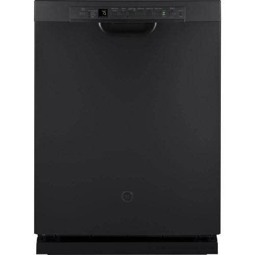 GE 46dBA Black Slate Front Control with Stainless Steel Tub