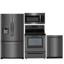 Frigidaire Black Stainless 4 Piece