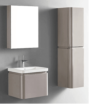 """Euro24""""wall-hung vanity in silk Product Image"""