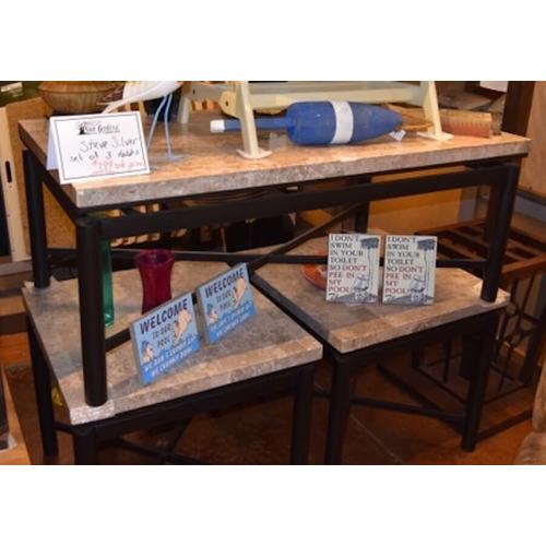 Set of 3 accent tables.