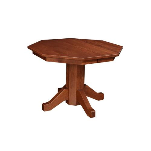 Amish Traditional Octagon Pedestal Table