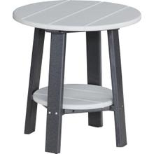 Deluxe End Table Dove Gray and Black