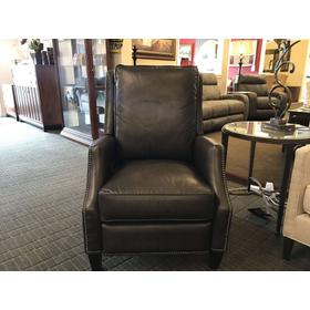 Recliner by Hooker Sarazana Castle Leather with Nailhead Trim
