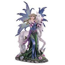 Spring Fairy with Unicorn, Blue/Purple