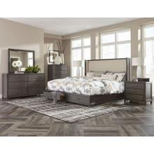 Fondren Qn Storage Bed, Dresser, Mirror and Nightstand