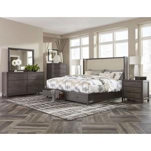Fondren Qn Storage Bed, Dresser, Mirror and Nightstand