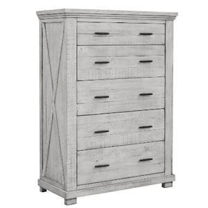 Cottage Creek Furniture - CROSSING LAKE 4 PC Bedroom Group - Qu Bed,Dresser,Mirror,N. Stand -   (41**-0786)