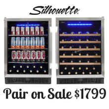 """See Details - Matching Silhouette 24"""" built-in wine cooler and beverage center"""