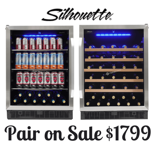 """Packages - Matching Silhouette 24"""" built-in wine cooler and beverage center"""