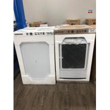 5.0 cu. ft. Top Load Washer with Super Speed in White 7.4 cu. ft. Electric Dryer with Steam Sanitize  in White**OPEN BOX ITEM** West Des Moines Location