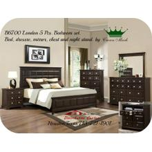 Crown Mark Furniture B6300 Apothecary Bedroom set Houston Texas USA Aztec Furniture