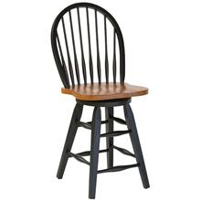 "30"" Hardwood Swivel Barstool"