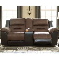 See Details - CLEARANCE Earhart Loveseat with Console - Chestnut