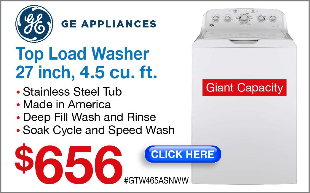 GE Top Load Washer GTW465ASNWW