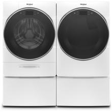 WHIRLPOOL Load & Go XL Plus Dispenser 5.0 Cu.Ft. Front Load Washer & 7.4 Cu.Ft. Electric Dryer with Pedestals - White
