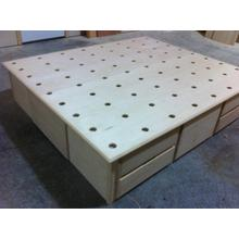 Contemporary Style Double High Chestbed with Perforated Platform for Latex Mattresses