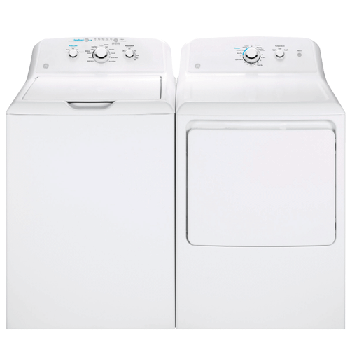GE 4.2 cu. ft. Washer with Stainless Steel Basket & 7.2 cu. ft. Aluminized Alloy Drum Electric Dryer