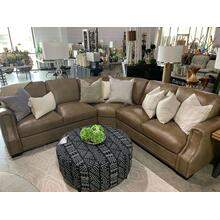 Dana Sectional Two Tone Old Saddle