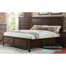 Chatham Grey - King Storage Bed