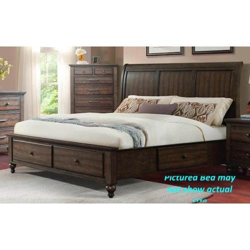 Elements - Chatham Grey - Queen Storage Bed
