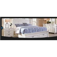 Stoney Creek King Bed with Shutter Headboard and Storage Footboard