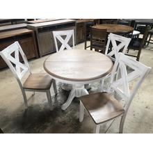 See Details - BUTTERFLY LEAF TABLE WITH 4 CHAIRS #DPR
