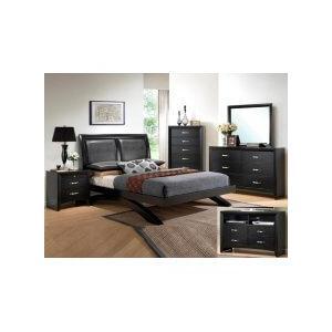 Galinda Kg Bed, Dresser, Mirror, Chest and Nightstand