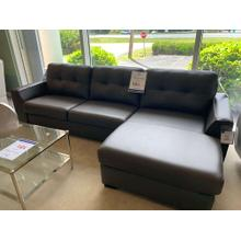 Two Piece Leather Sofa w/ Chaise