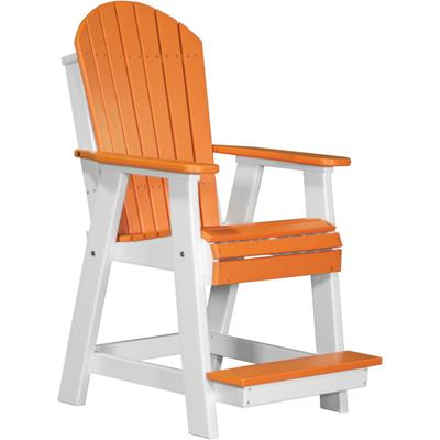 Adirondack Balcony Chair Tangerine and White