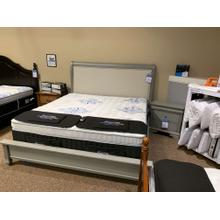 Product Image - Wood & Upholstered King Bed with Matching Nightstand