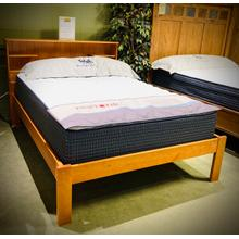 See Details - SOLID PINE FULL XL BOOKCASE BED, FRAME & MATTRESS in Pecan Finish      (Innovations Del Rey 604P-62820,86071integritymatt)