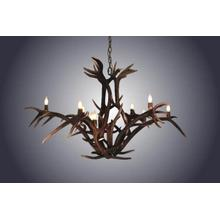 REAL 12 Light Red Stag Antler Chandelier
