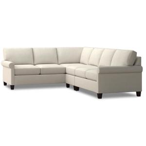 Bassett Furniture - Spencer Right Sectional - Cream Fabric
