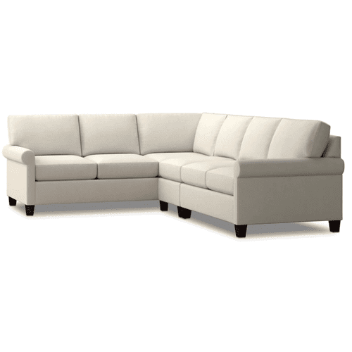 Spencer Right Sectional - Cream Fabric