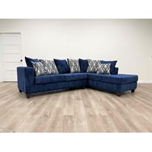 See Details - 110 Blue Sectional