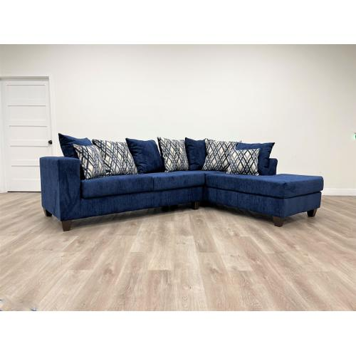 Gallery - 110 Blue Sectional