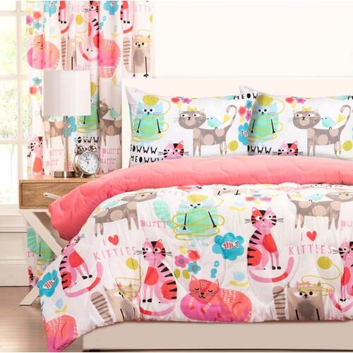 """Purrty Cat"" Crayola Comforter Sets Twin"