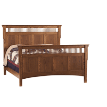 See Details - Mission Deluxe Queen Bed (Available in a Variety of Colors and Wood Stains)
