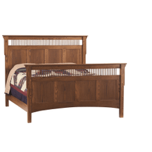 Mission Deluxe Queen Bed (Available in a Variety of Colors and Wood Stains)