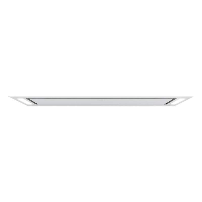 48'' Ceiling-Mounted Hood - White Glass