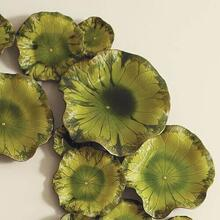 Free Formed Lily Plate-Green-Med