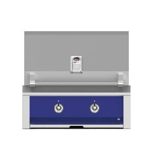 "Aspire By Hestan 30"" Built-In U-Burner and Sear Grill LP Prince Blue"