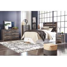 View Product - Drystan - Brown Rustic 4 Piece Bedroom Set