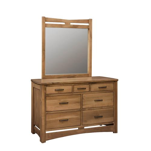 Country Value Woodworks - Homestead - Triple Dresser w/ Mirror