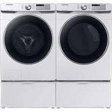 SAMSUNG 4.5 cu. ft. Front Load Washer with Super Speed/SAMSUNG 7.5 cu. ft. Electric Dryer with Steam Sanitize